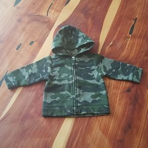 Old Navy 3-6M Green Camo Hoodie